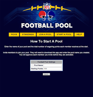 NFL Pool Office Football Pool - screenshot