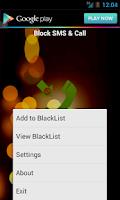 Screenshot of Block SMS & Call