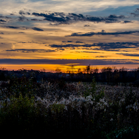 Sunset by Rick Touhey - Landscapes Sunsets & Sunrises ( sunset, hawks hollow, landscape )