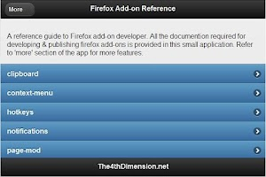Screenshot of Firefox Add-on Developer Guide