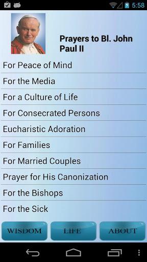 Prayers to Bl. John Paul II