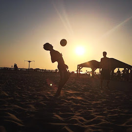 Beach volley ball Frishmans beach by Michelle Morgan - Sports & Fitness Soccer/Association football