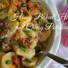 Honey Baked Ham and Cheesy Potatoes