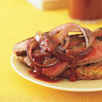 Grilled Rib-Eye Steaks with Cola Steak Sauce