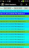 Screenshot of 1Click Headache Diary