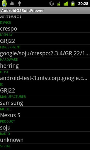 AndroidOSBuildViewer