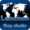Lebanon flag clocks icon