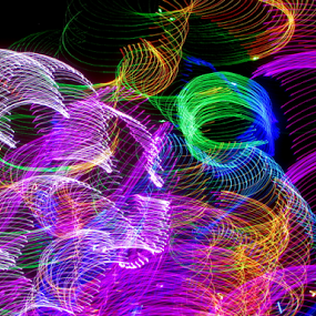 Waves of light. by Jim Barton - Abstract Patterns ( laser light, colorful, light design, waves of light, waves, laser design, laser, laser light show, light, science )