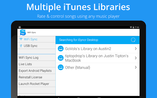 ISyncr for iTunes - screenshot