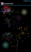 Screenshot of Fireworks Touch