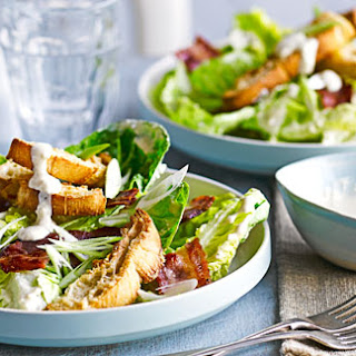 Smoky Bacon Caesar With Parmesan Croutons