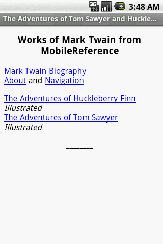 The Adventures of Tom Sawyer..
