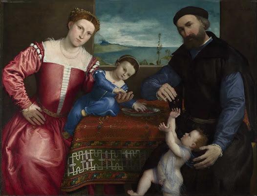 Lotto Lorenzo, Giovanni della Volta, moglie e figli
