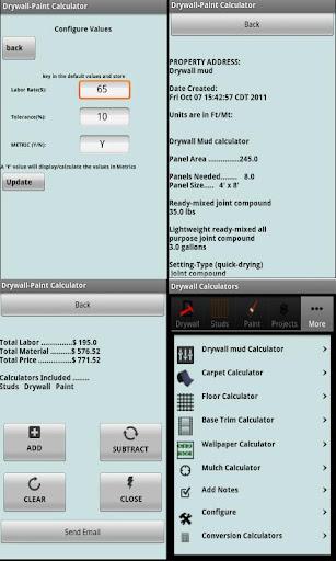 Drywall Calculators - screenshot