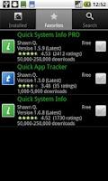 Screenshot of Quick App Tracker