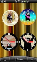 Screenshot of Analog clocks KUMAMON Free