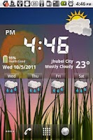 Screenshot of Pig Clock & Weather Forecast