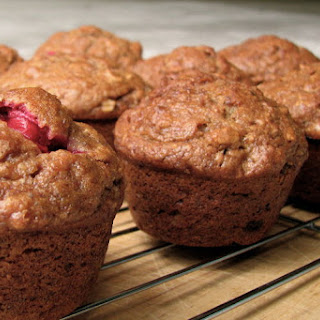 Persimmon Spice Muffins with Cranberries