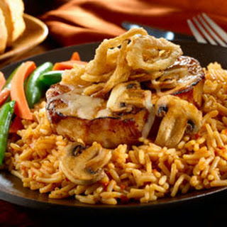Cowboy Pork Chops With Bbq Rice