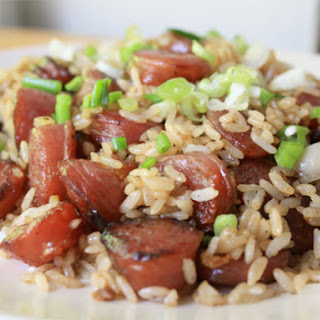 Stir-Fried Rice with Chinese Sausage