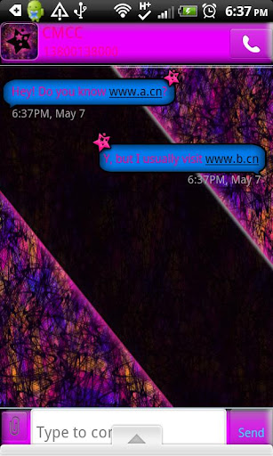 GO SMS THEME CrazyColor