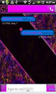 GO SMS THEME/CrazyColor - screenshot