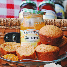 Gingerbread Muffins with Orange Marmalade Filling