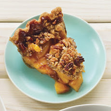 Deep-Dish Peach Pie with Pecan Streusel Topping