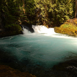 Blue Pool by Timothy Daniels - Landscapes Waterscapes ( pool, rapids )