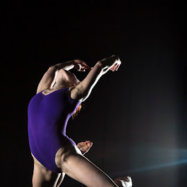 Flying Girl by Gary McIver - Sports & Fitness Other Sports ( airial skills, speedlights, performance, action, trampoline )