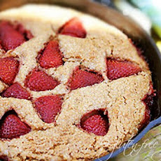 Gluten-Free Strawberry Cobbler Cake