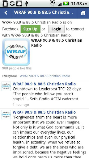 christian-radio-wraf for android screenshot