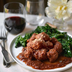 Veal Meatballs in Red Wine Sauce