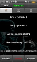 Screenshot of Green Quit Smoking