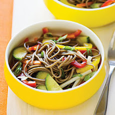 Cold Soba Salad with Crisp Vegetables