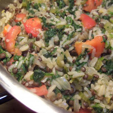 Rice, Lentil, and Spinach Pilaf