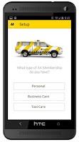 Screenshot of AA Roadservice