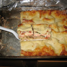 Salmon Lasagna W/Cheese Sauce