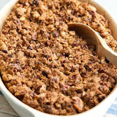 Sweet Potato Soufflé with Spiced Pecan Topping