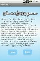 Screenshot of Tithe & Offering Decree