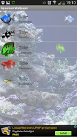 Screenshot of live wallpaper acquarium