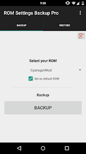 ROM Settings Backup Pro- screenshot thumbnail