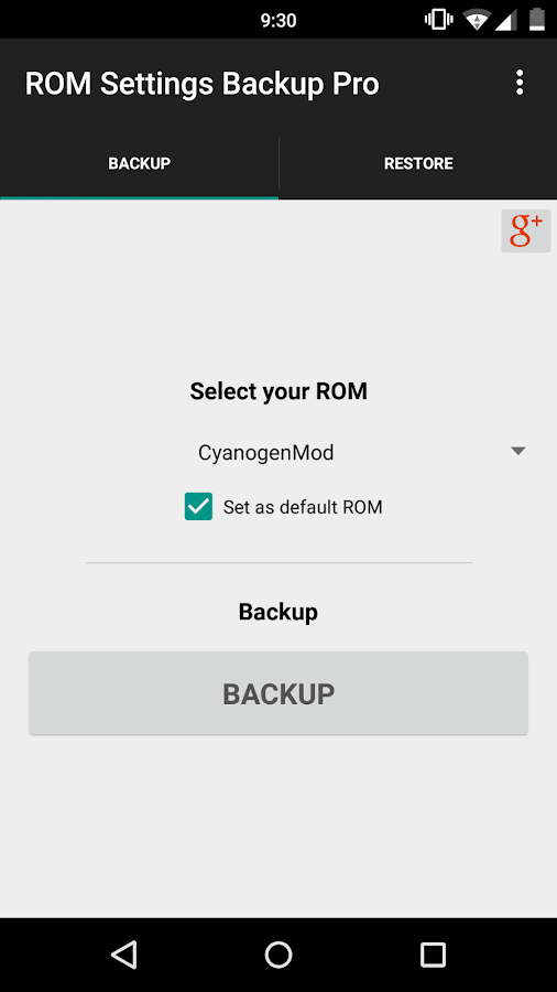 ROM Settings Backup Pro Screenshot 0