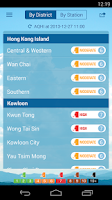 Screenshot of HK AQHI 香港空氣質素健康指數