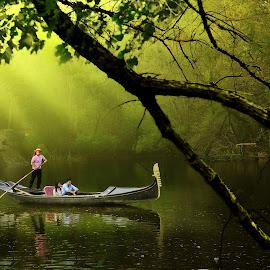 Boathouse by Rahul Phutane - City,  Street & Park  City Parks ( water, rahulphutane, park, rahul, boat )