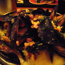 Lager-Steamed Mussels With Mustard, Kielbasa and Dill