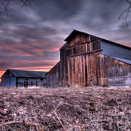 Sunrise at Hellwinkel  by Jay Fite - Buildings & Architecture Decaying & Abandoned