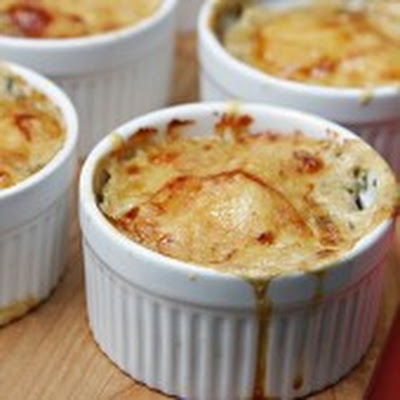 Shiitake Mushroom and Yukon Gold Potato Gratins with Fresh Herbs