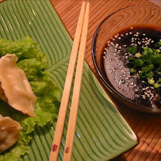Steamed Dumplings With Ginger Hoisin Sauce