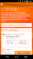 Screenshot of easyJet